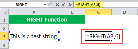 RIGHT Function Example 1-1