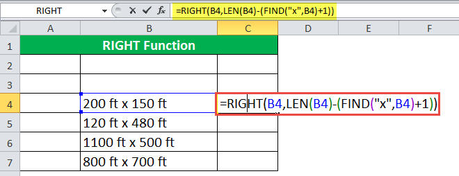 RIGHT Function Example 5-1