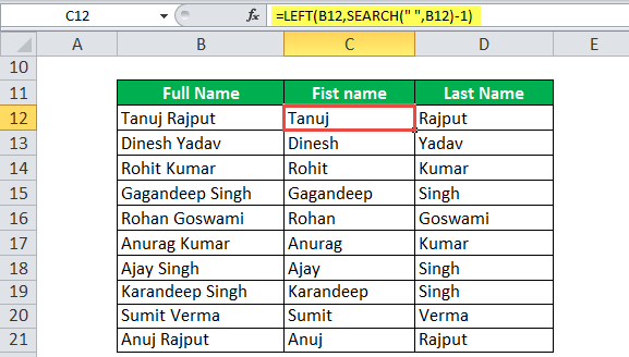 Search Function Example 2