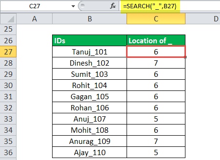 Search Function Example 3