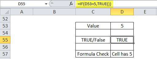 True Function Example 5