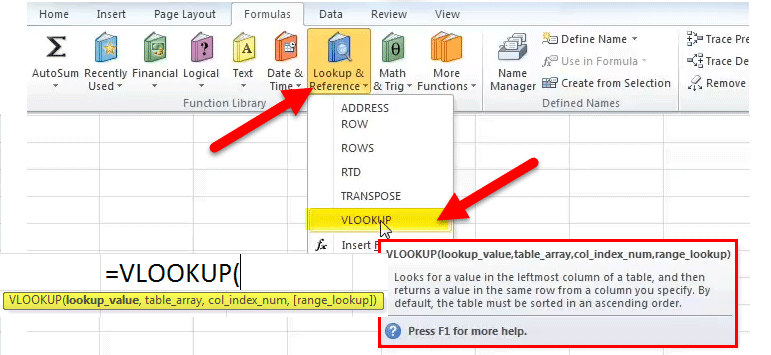Vlookup Excel Function Formula Examples How To Use Vlookup