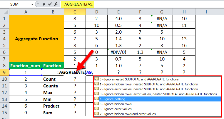Aggregate Example 1-3