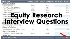 Equity Research Interview Questions (with Answers)