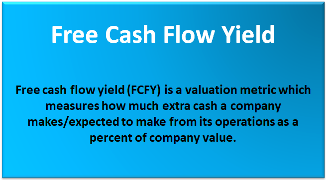 free cash flow yield  formula  top example