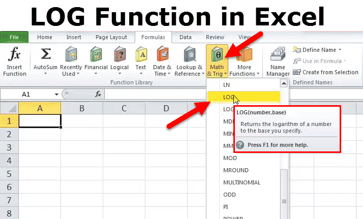 LOG in Excel (Formula, Examples) | How Use LOG Function in