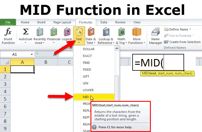 MID Function in Excel