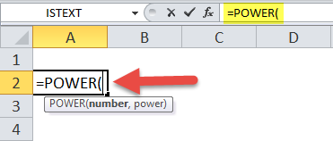 POWER Function Excel
