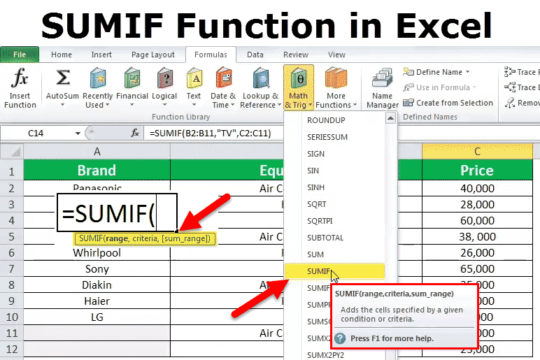 Sumif in excel formula examples how to use sumif function ibookread Read Online