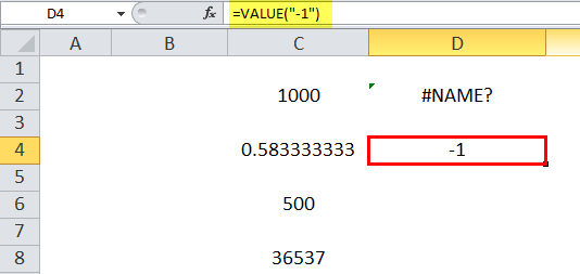VALUE Example 7