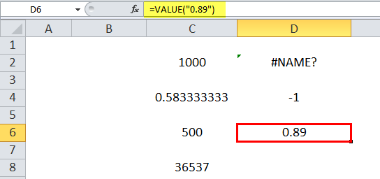 VALUE Example 8
