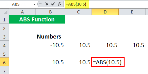 ABS in Excel - Illustration 10
