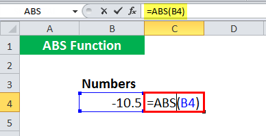 ABS in Excel - Illustration 2