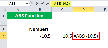 ABS in Excel - Illustration 4