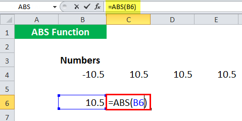 ABS in Excel - Illustration 8