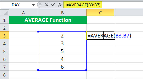 AVERAGE Function Illustration 2