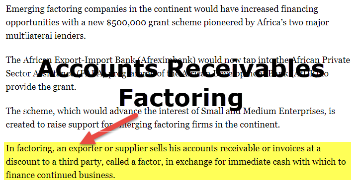 Accounts Receivables Factoring
