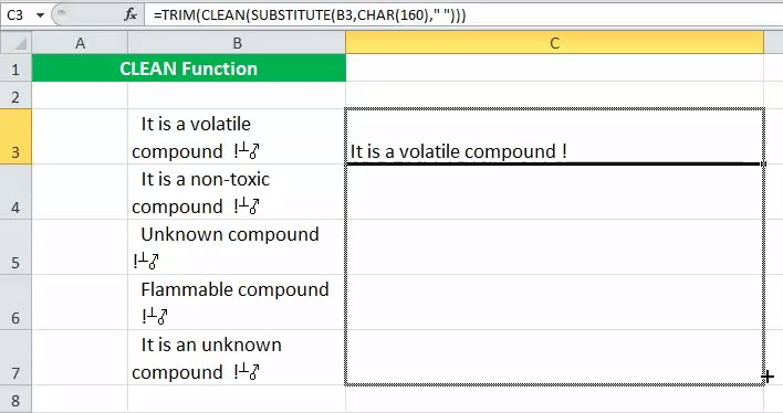 CLEAN in Excel (Formula, Examples) | How to Use CLEAN ...