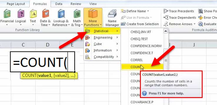 COUNT Function in Excel (Examples) | How to Use COUNT Function?
