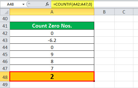 COUNTIF Example 5