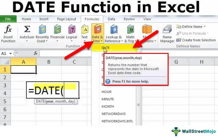 date in excel formula examples how to use date function in excel