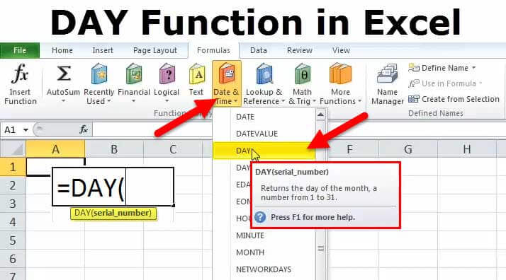 DAY Function in Excel