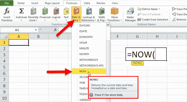NOW Function (Formula, Examples) | How to Use NOW in Excel?