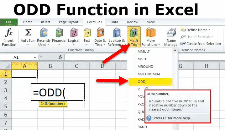 ODD Function in Excel
