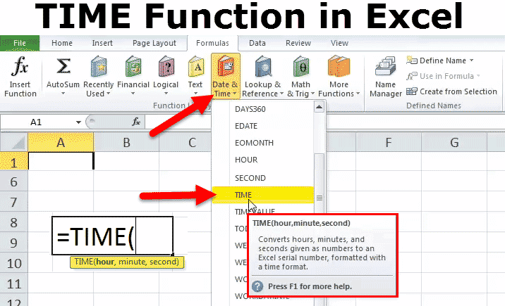 TIME Function Excel