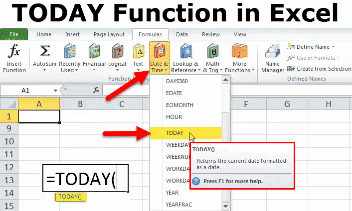 TODAY Function in Excel