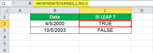 DATE Function in Excel Example 2