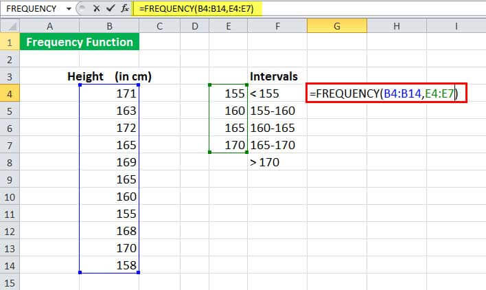 FREQUENCy Function Example 1-2