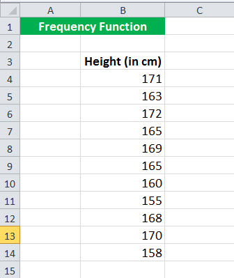 FREQUENCy Function Example 1