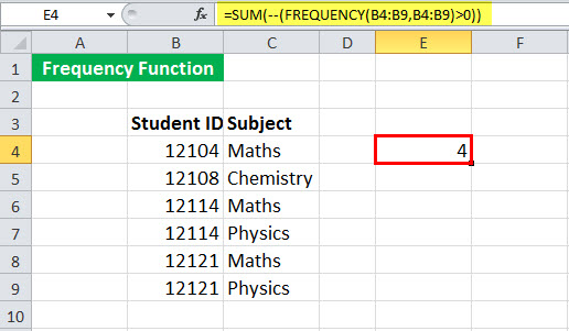 FREQUENCy Function Example 2-2