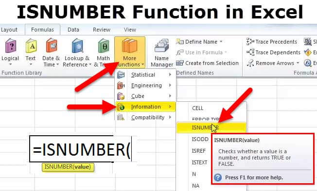 ISNUMBER Function in Excel