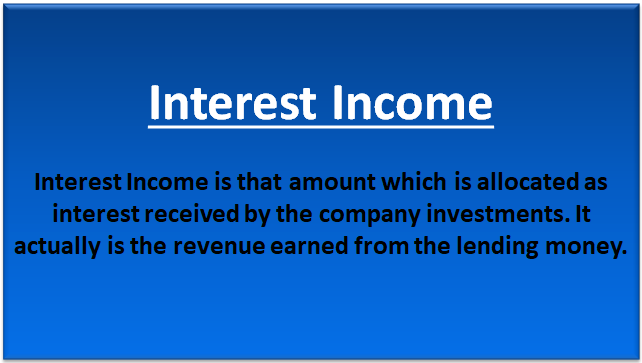 interest income types example accounting for interest income