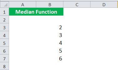MEDIAN Function Example 1