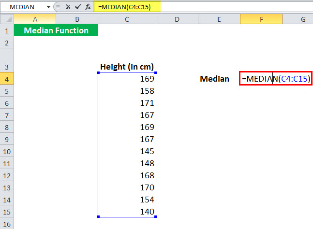 MEDIAN Function Example 2-1