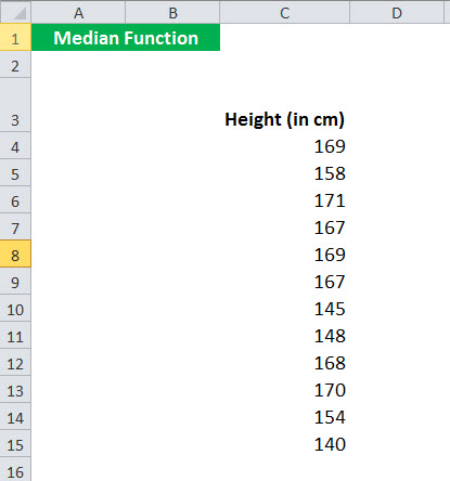 MEDIAN Function Example 2