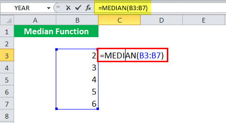 MEDIAN Function illustration 1-1
