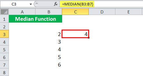 MEDIAN Function illustration 1-2