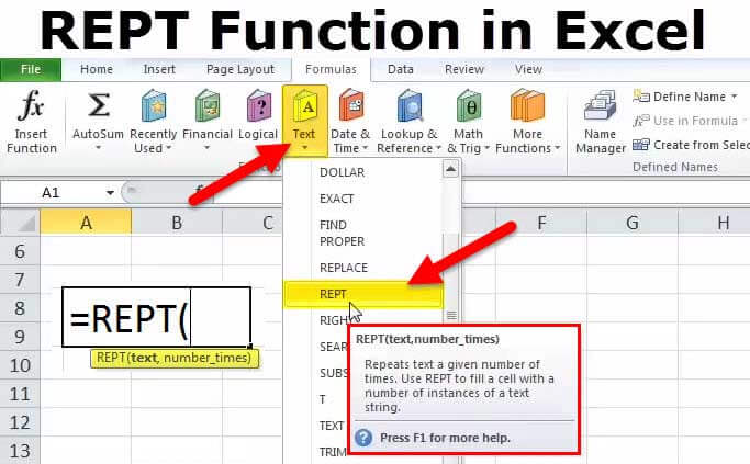 REPT Function in Excel