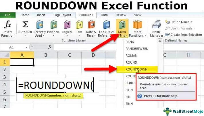 ROUNDDOWN Function in Excel