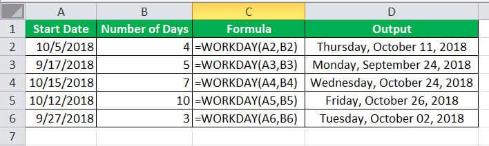 WORKDAY Example 1