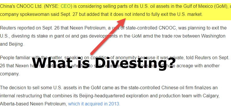 What is Divesting