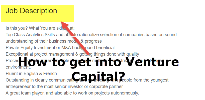 how to get into venture capital
