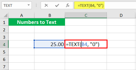 Convert to number ( Text function illustration - 1-1)
