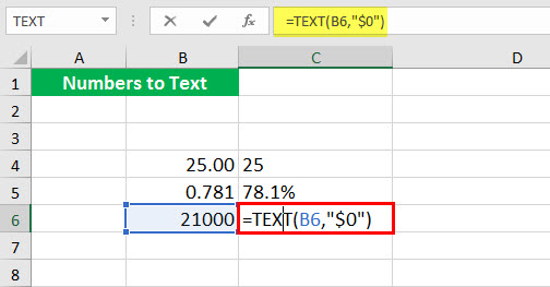 Convert to number ( Text function illustration - 1-7)
