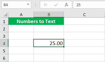 Convert to number ( Text function illustration - 1)