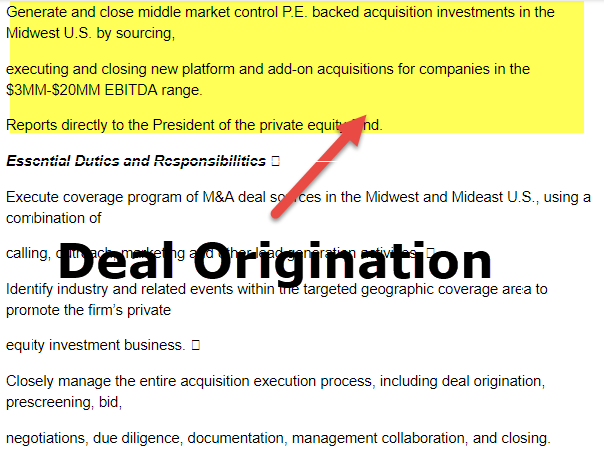 Deal Origination